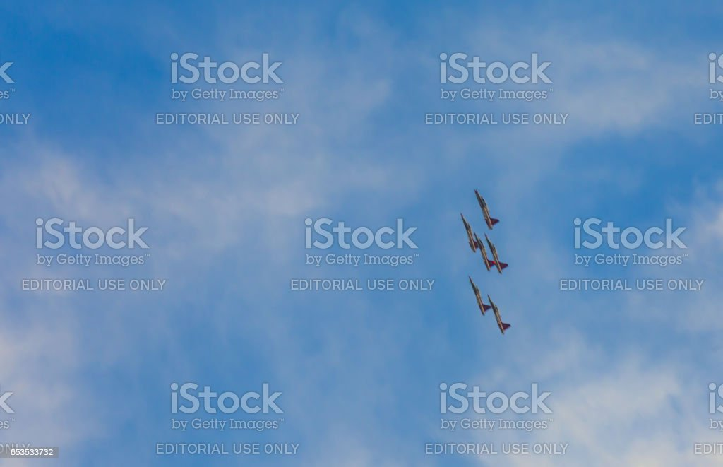 Airplane Show in Istanbul,Turkey stock photo