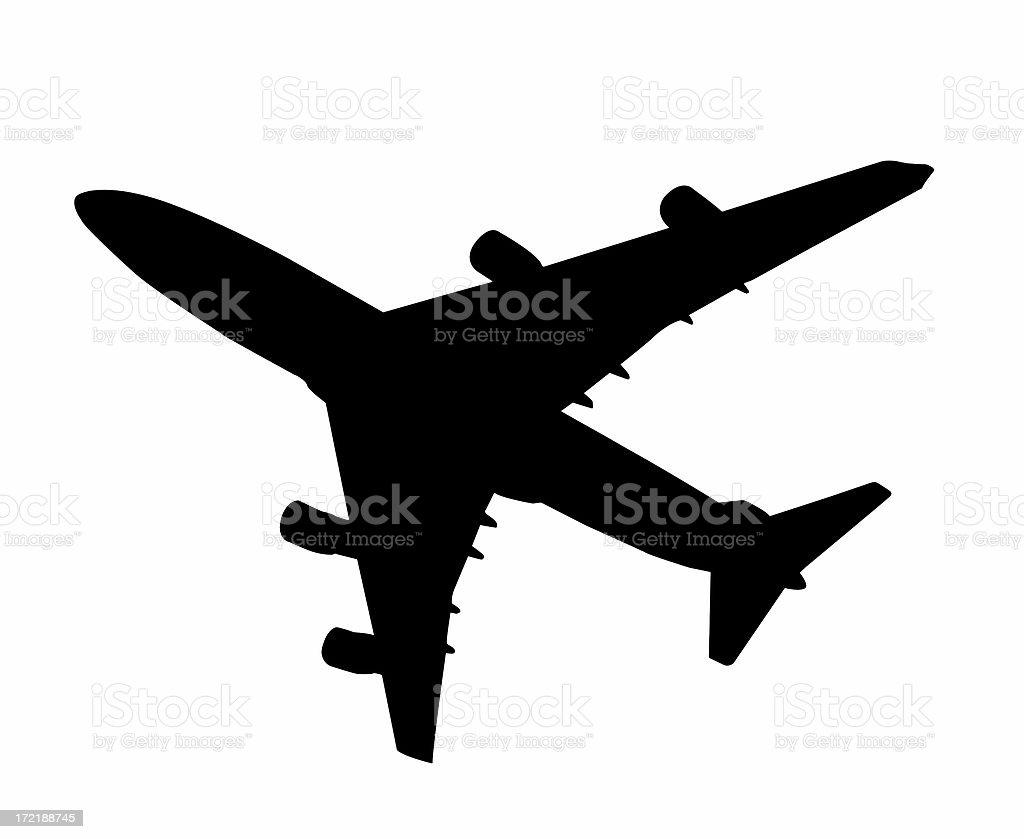 Airplane Silhouette royalty-free stock photo