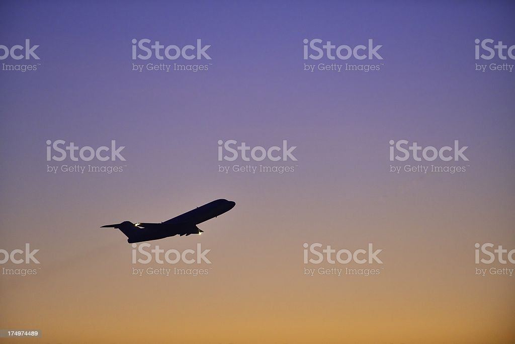 Airplane silhouette royalty-free stock photo