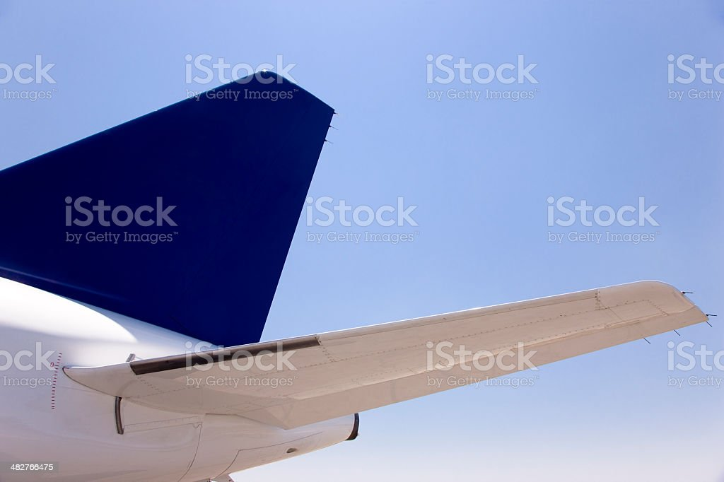 Airplane Tail Empennage stock photo