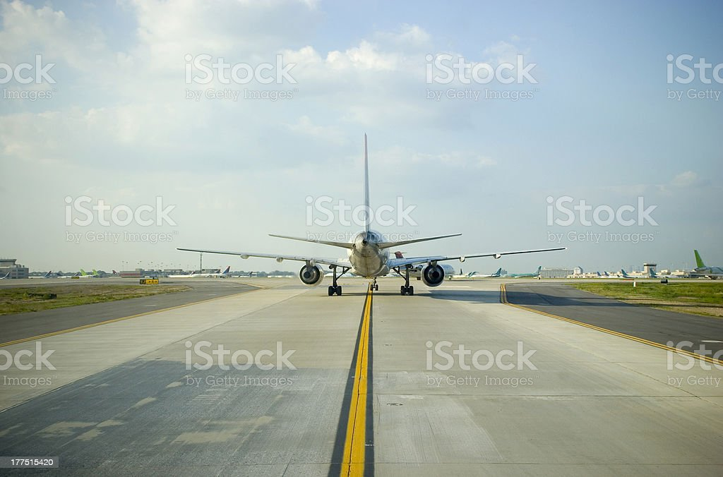 Airplane Tail Wide royalty-free stock photo