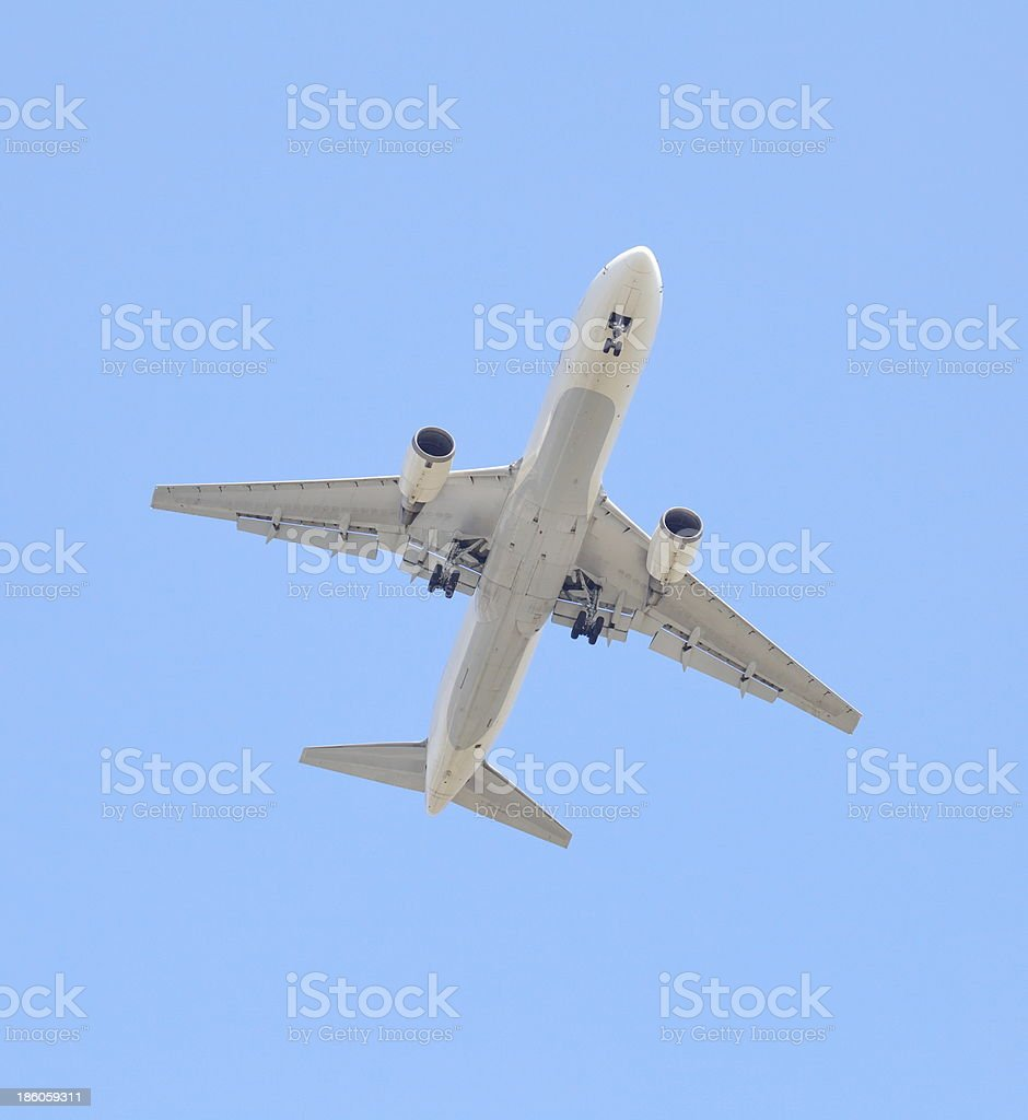 airplane taking off royalty-free stock photo