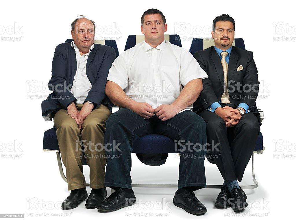 airplane tight seat stock photo