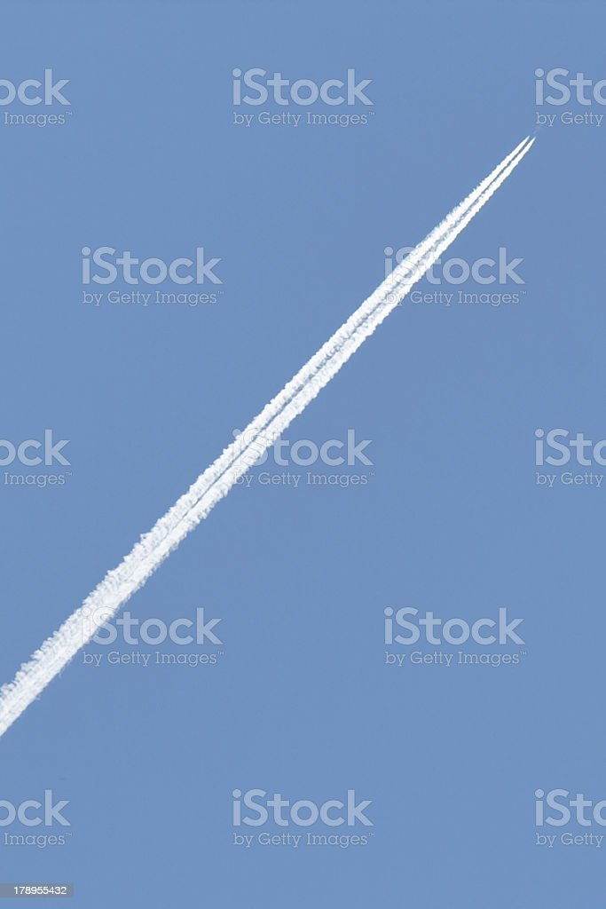 Airplane track royalty-free stock photo