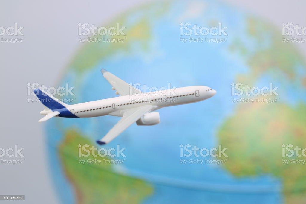 Airplane Travel stock photo