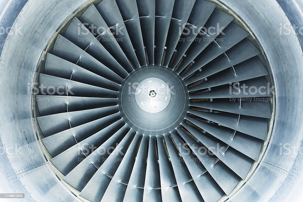 Airplane Turbine stock photo