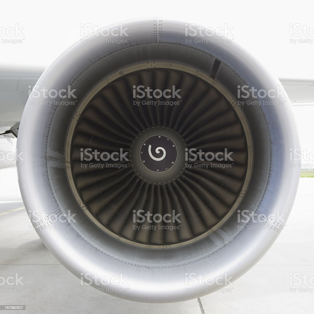 Airplane Turbine Spinning stock photo