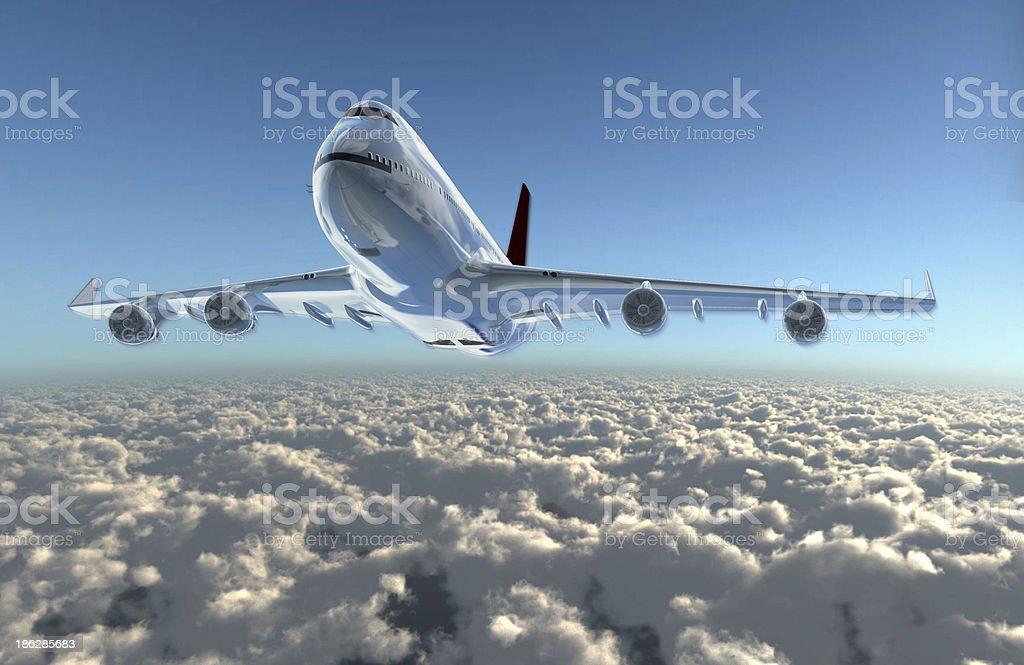 airplane up to sky stock photo