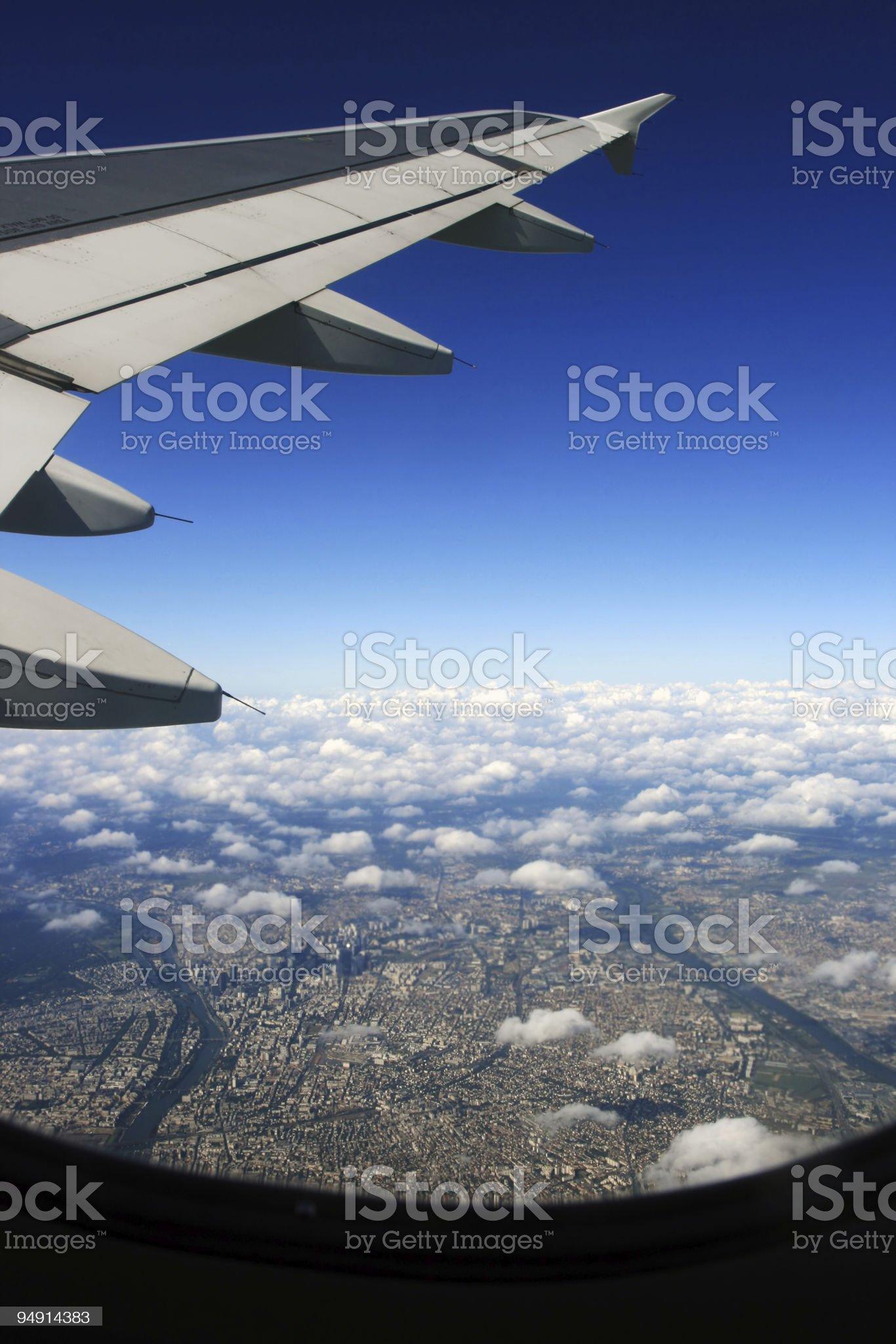 Airplane View royalty-free stock photo