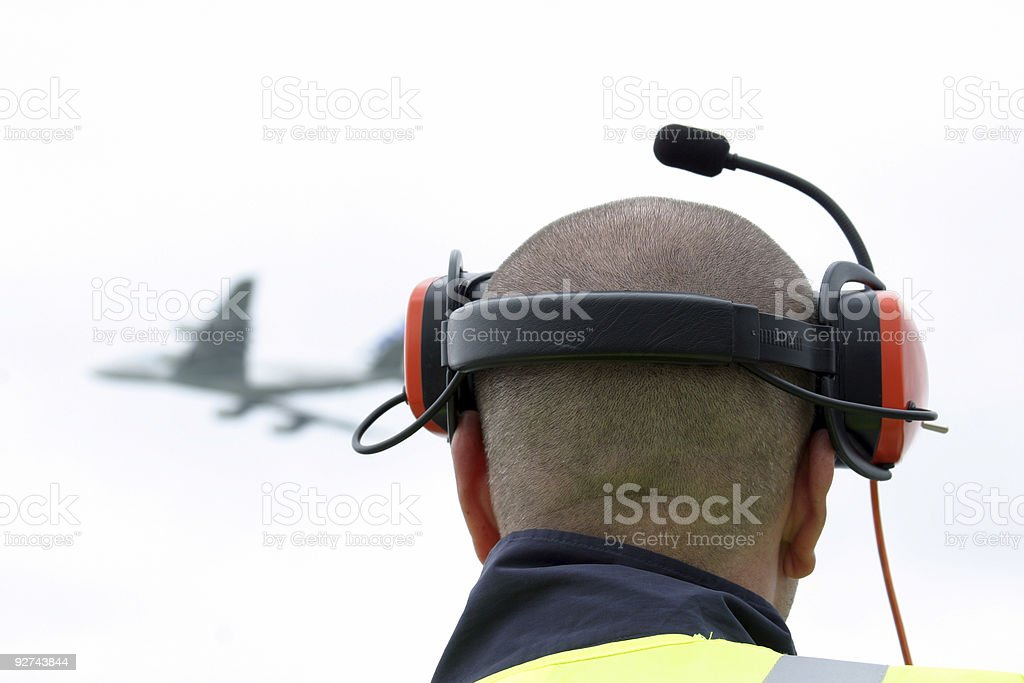 Airplane viewing royalty-free stock photo