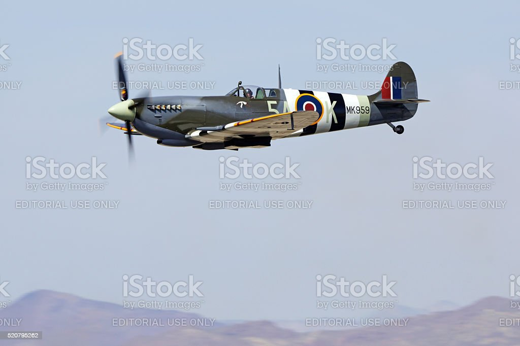 Airplane Vintage WWII Spitfire stock photo