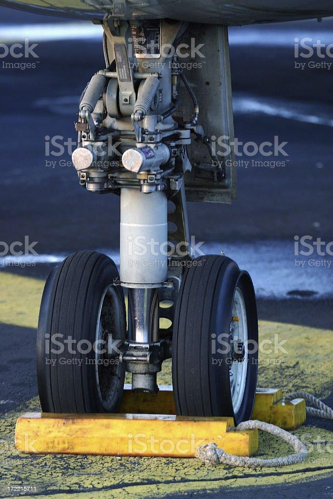 Airplane wheel 2 royalty-free stock photo