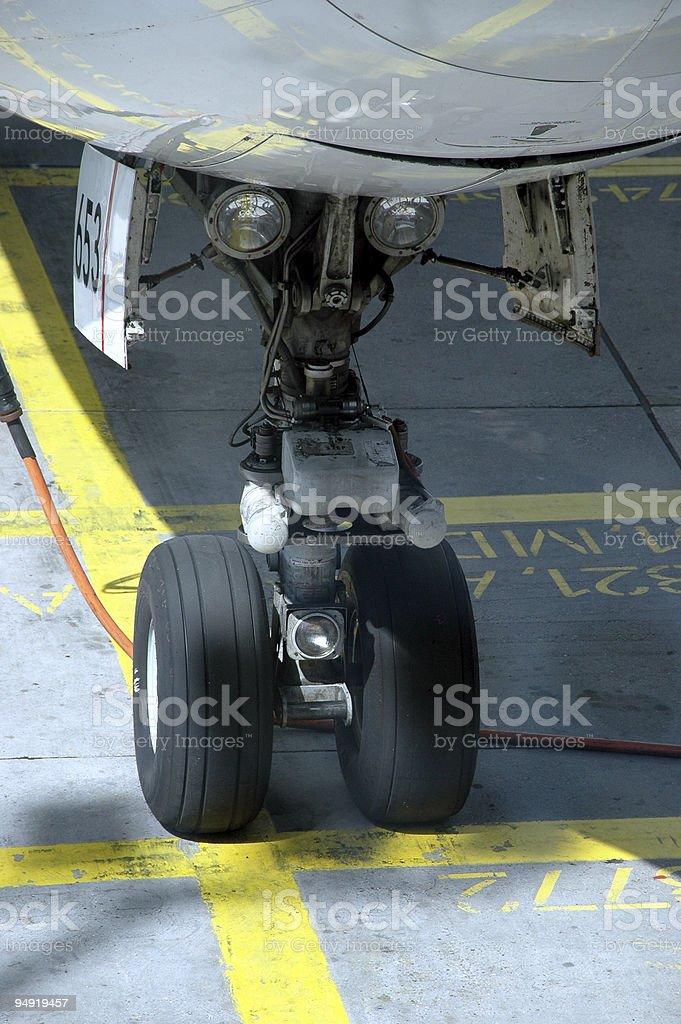 Airplane wheel royalty-free stock photo