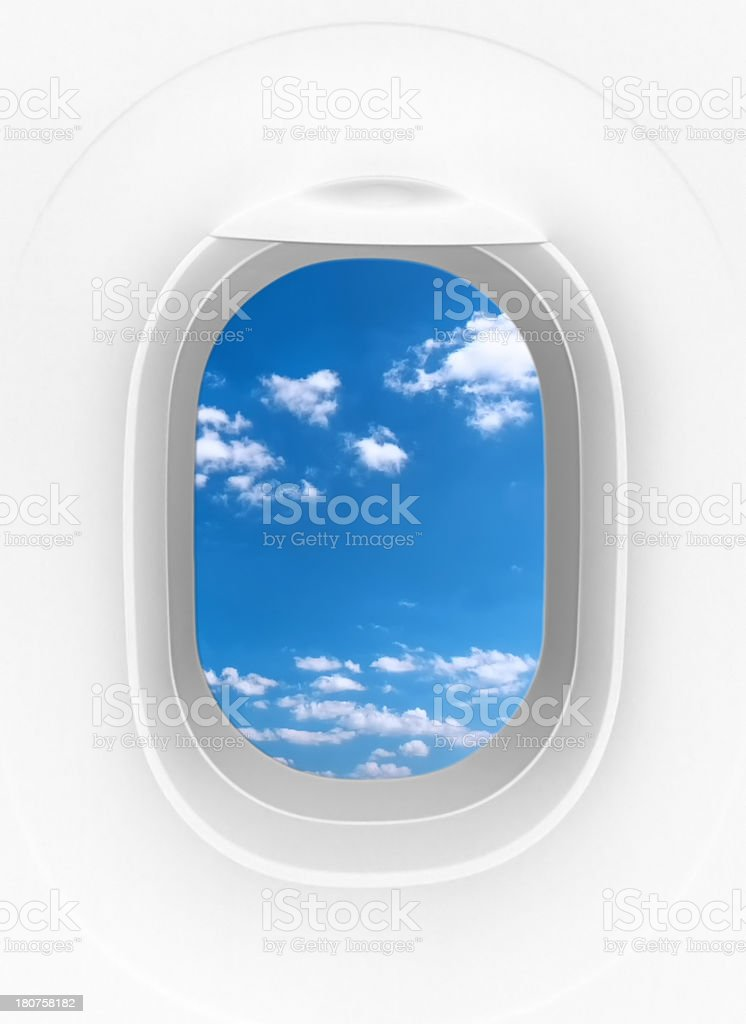 Airplane window royalty-free stock photo