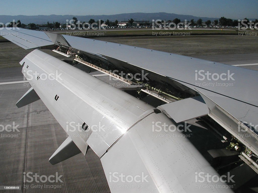 Airplane Wing Detail royalty-free stock photo