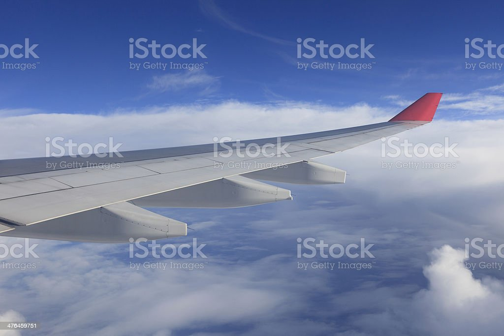 Airplane Wing In Flight royalty-free stock photo