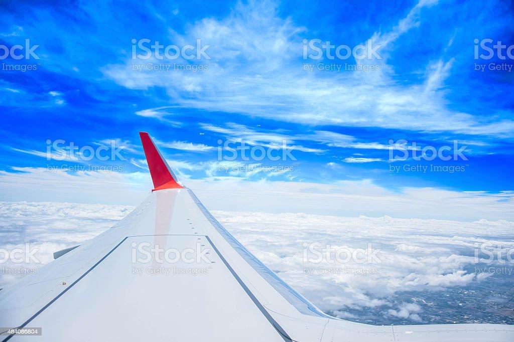 Flugzeug Flügel Lizenzfreies stock-foto
