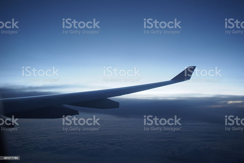 airplane wings stock photo