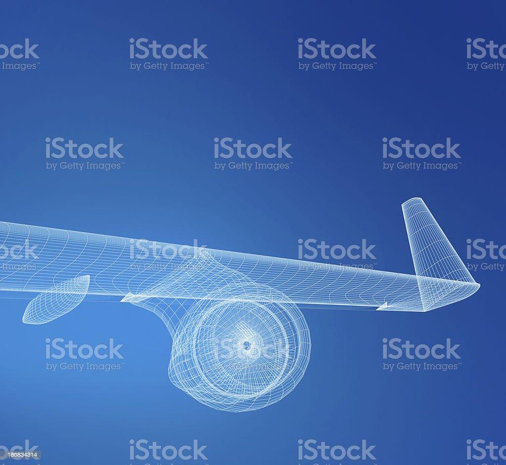 Airplane Wireframe stock photo