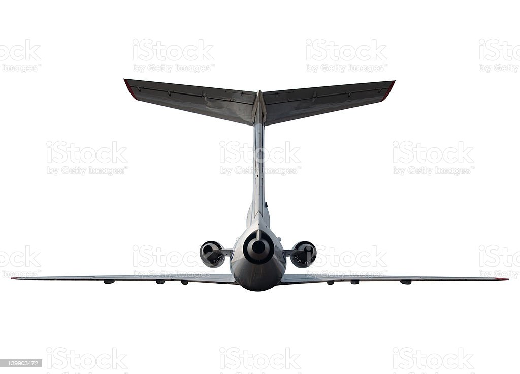 Airplane with clipping path royalty-free stock photo