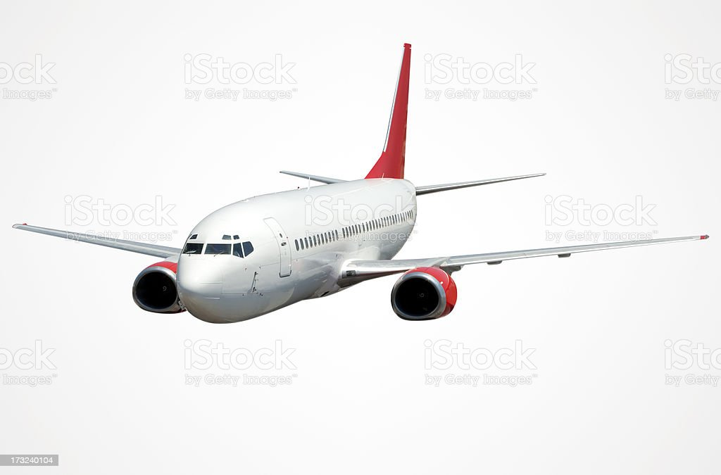 Airplane With Clipping Path stock photo