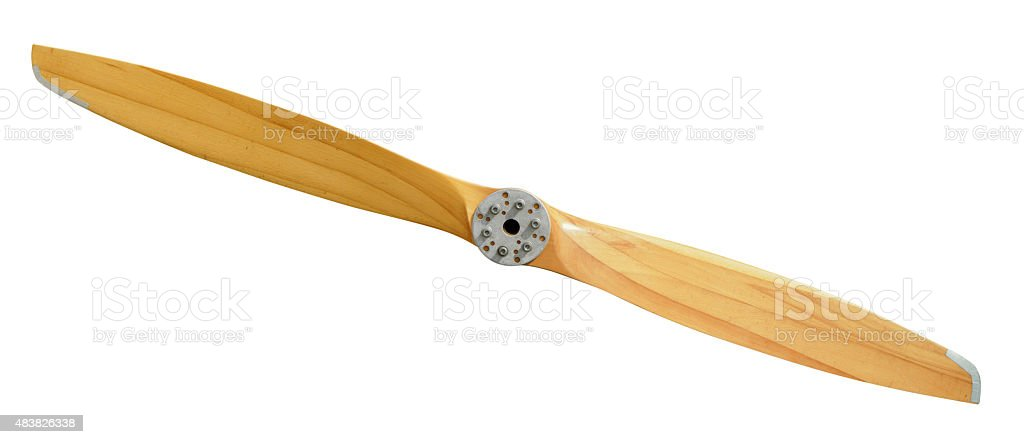 Airplane Wooden Propeller stock photo