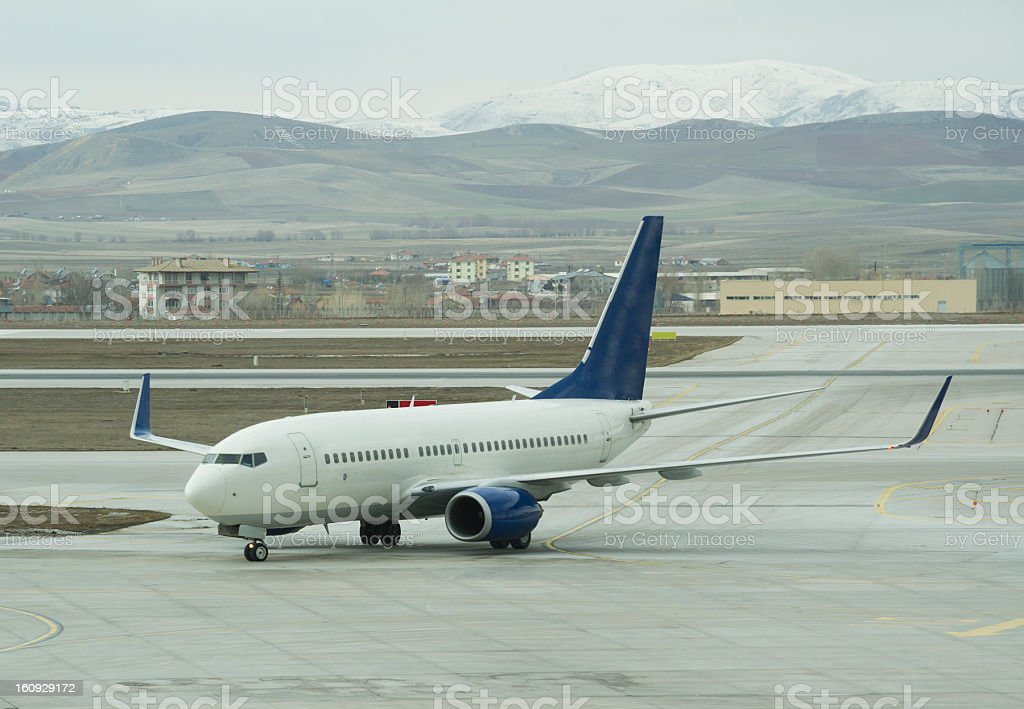 Airplanes at the airport royalty-free stock photo
