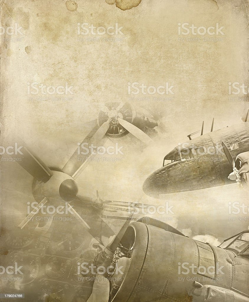 WW2 airplanes collage stock photo