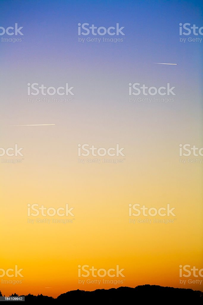 airplanes in artic summer night stock photo