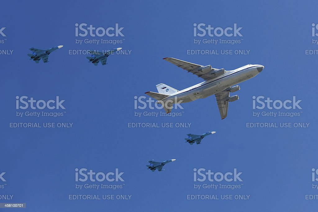 Airplanes in the skies royalty-free stock photo
