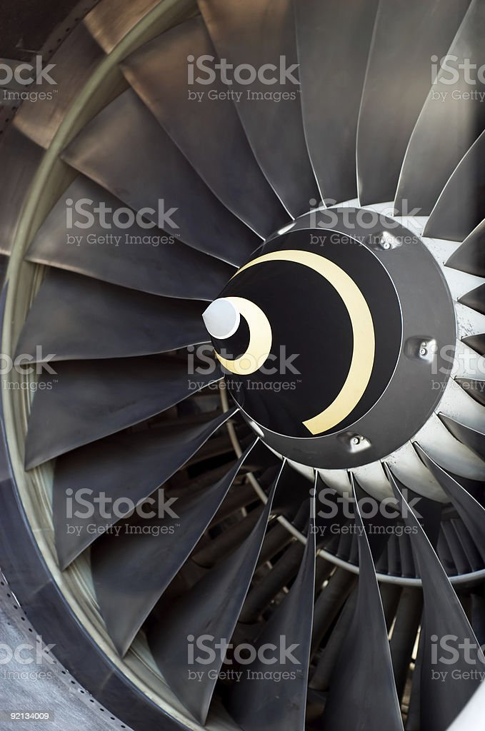 airplane's jet engine stock photo