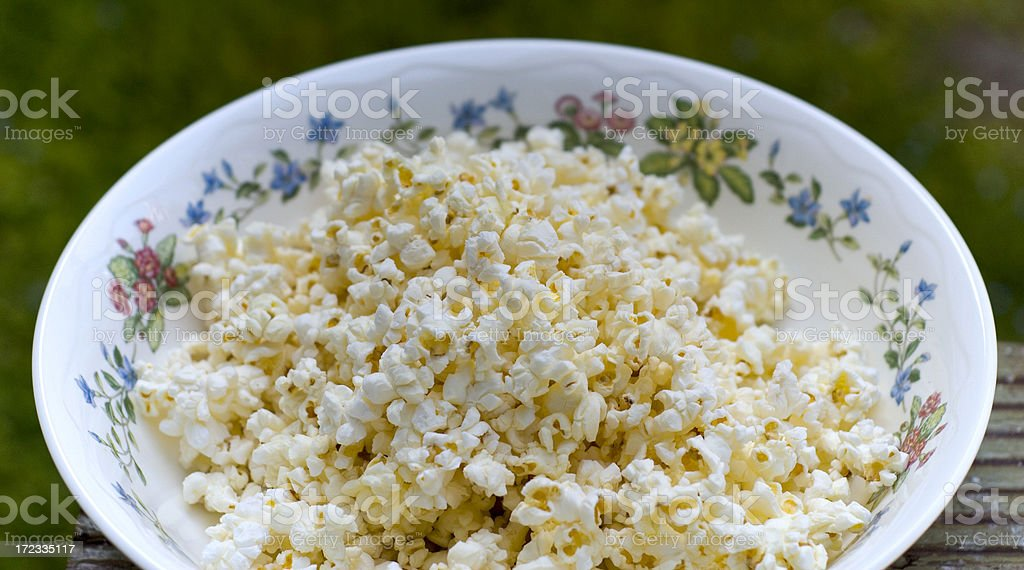 Air-Popped Popcorn royalty-free stock photo