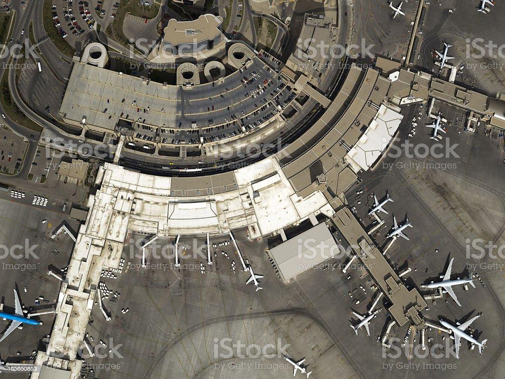 Airport Aerial Photo stock photo