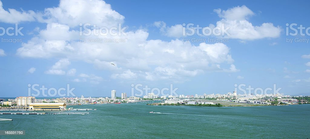 Airport and ferry terminals. San Juan, Puerto Rico. royalty-free stock photo