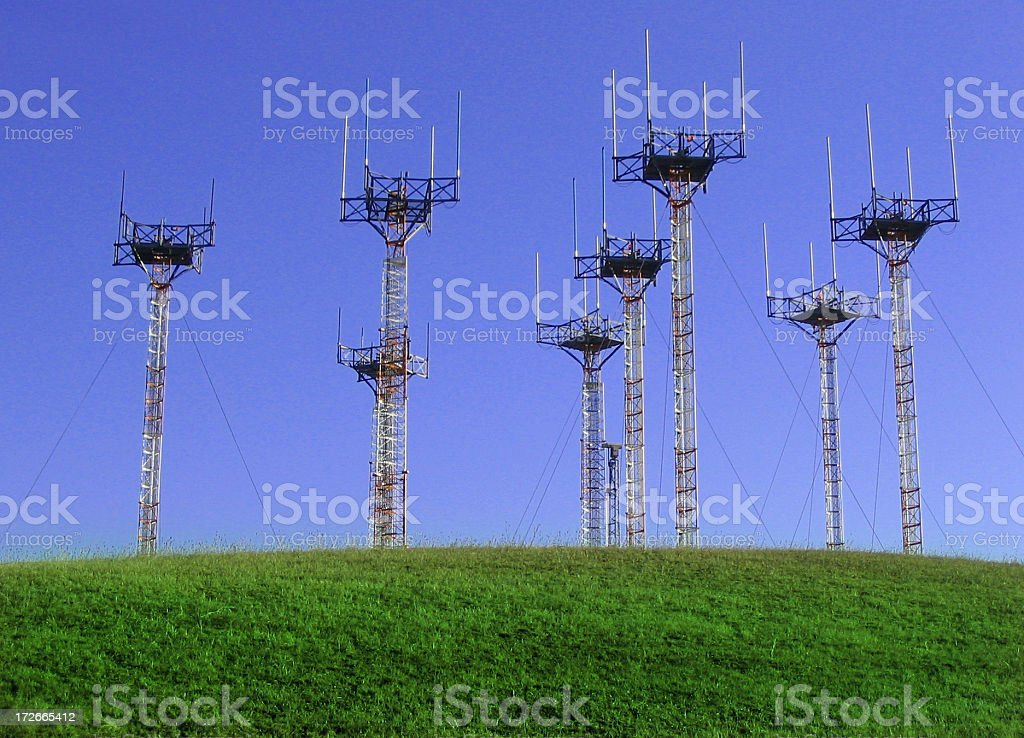 Airport Antenna Array royalty-free stock photo