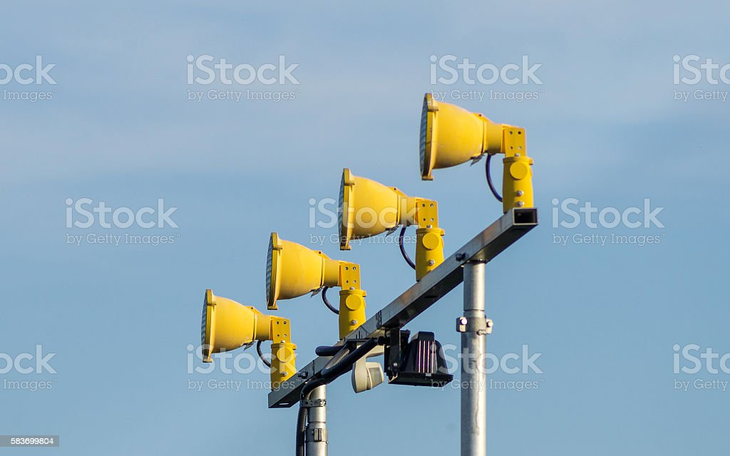 Airport Approach Lighting System stock photo