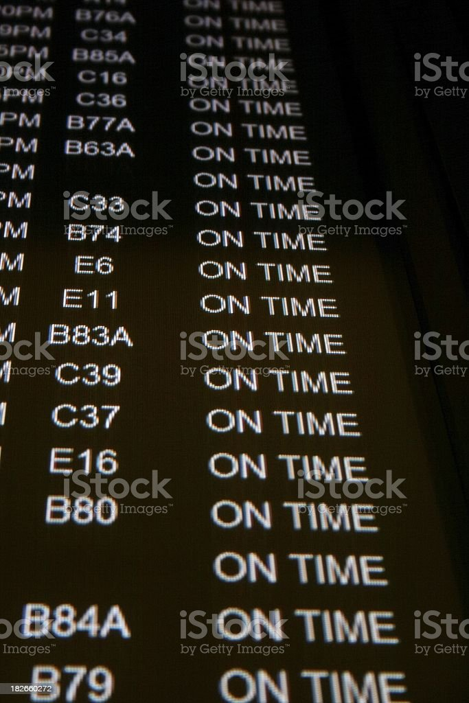 Airport Arrival Screen royalty-free stock photo