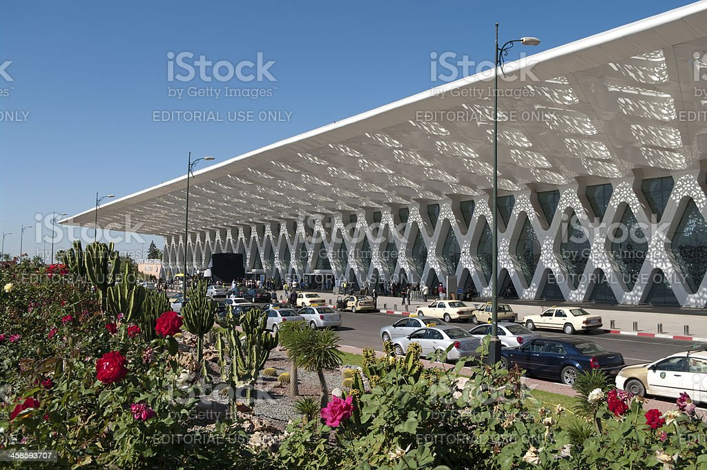 Airport at Marrakesh in Morocco Africa stock photo