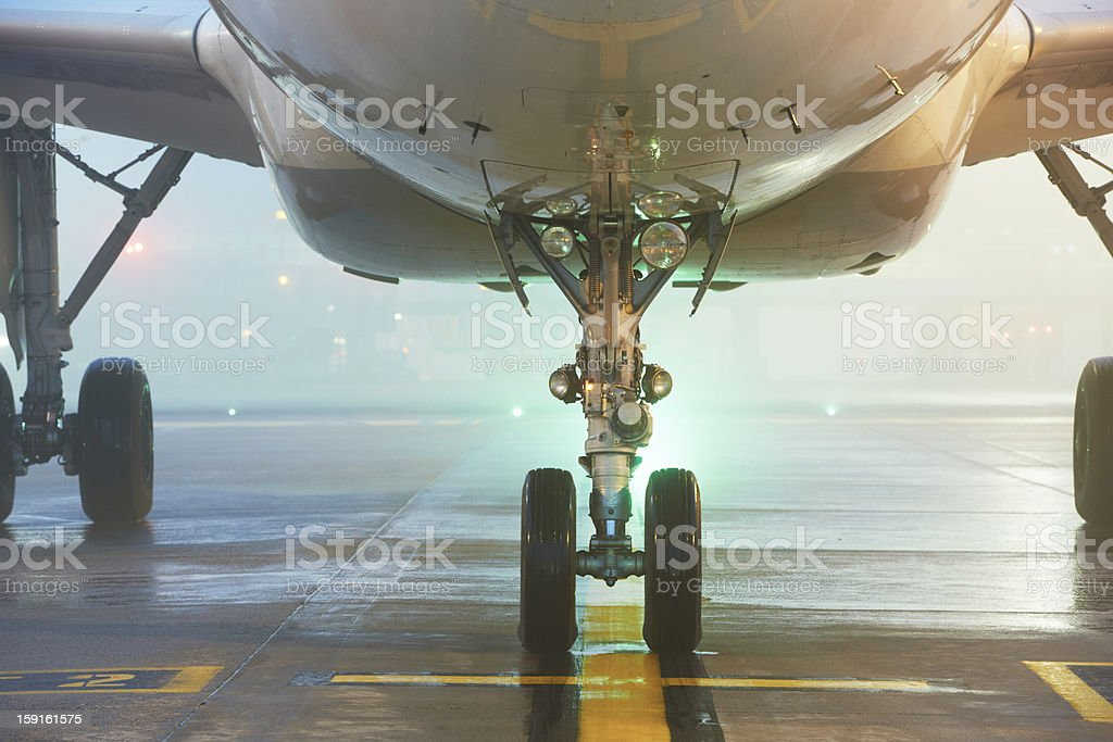 Airport at the night royalty-free stock photo