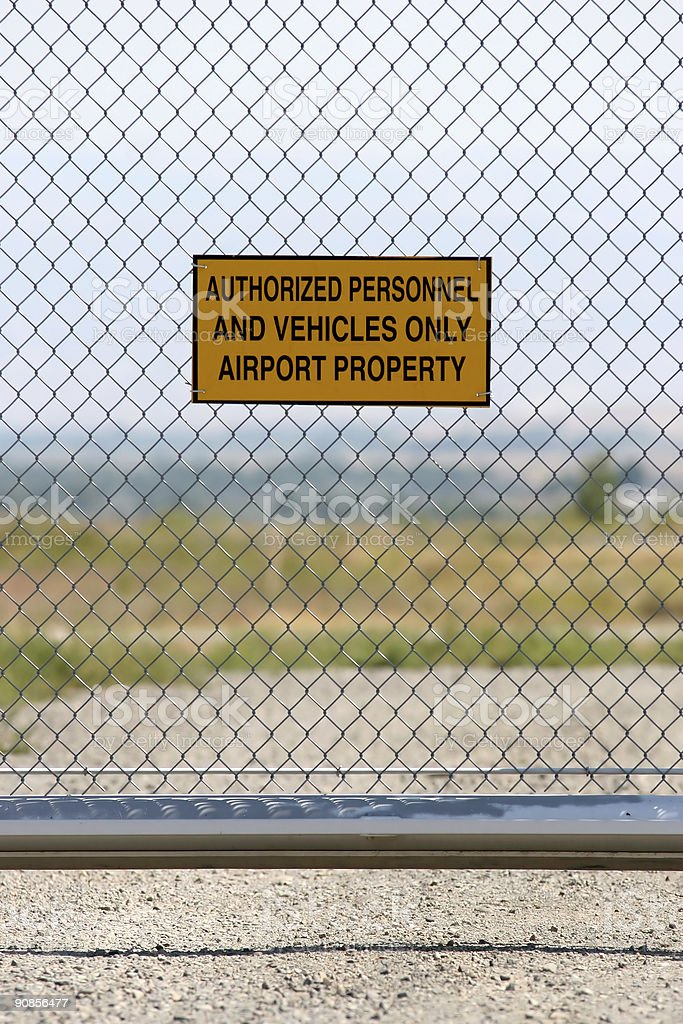 airport - authorized personnel only royalty-free stock photo