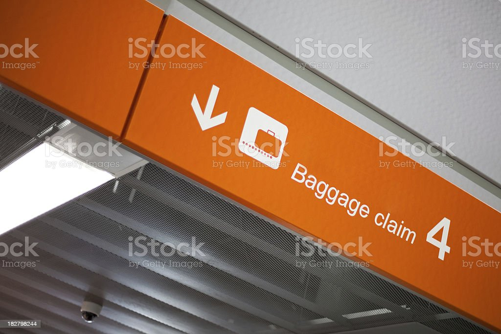Airport baggage claim royalty-free stock photo