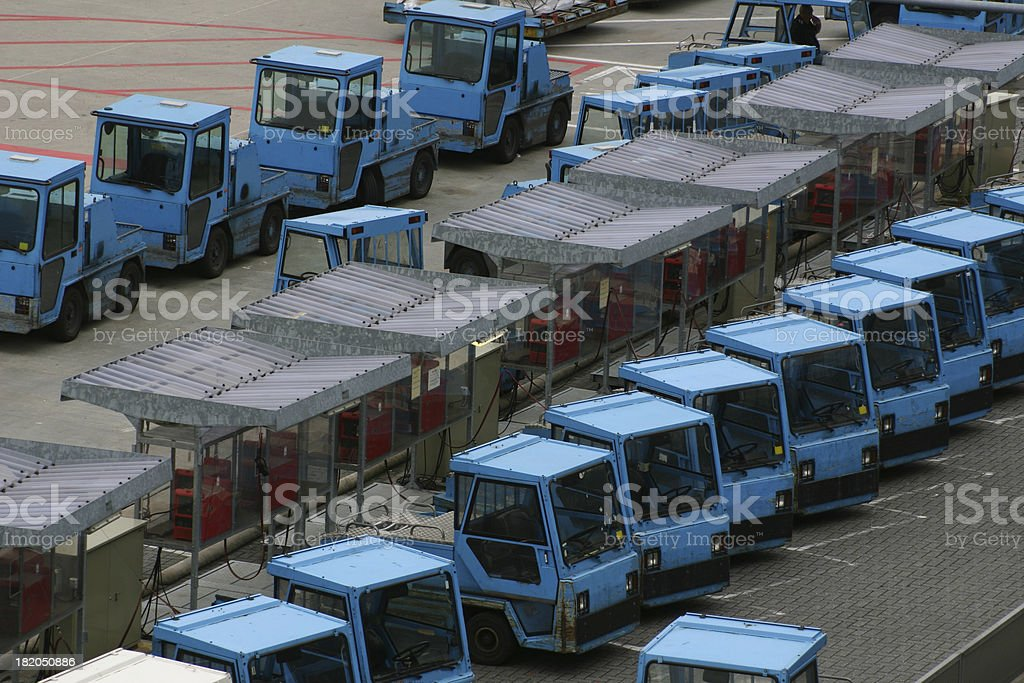 airport baggage trolley carts stock photo