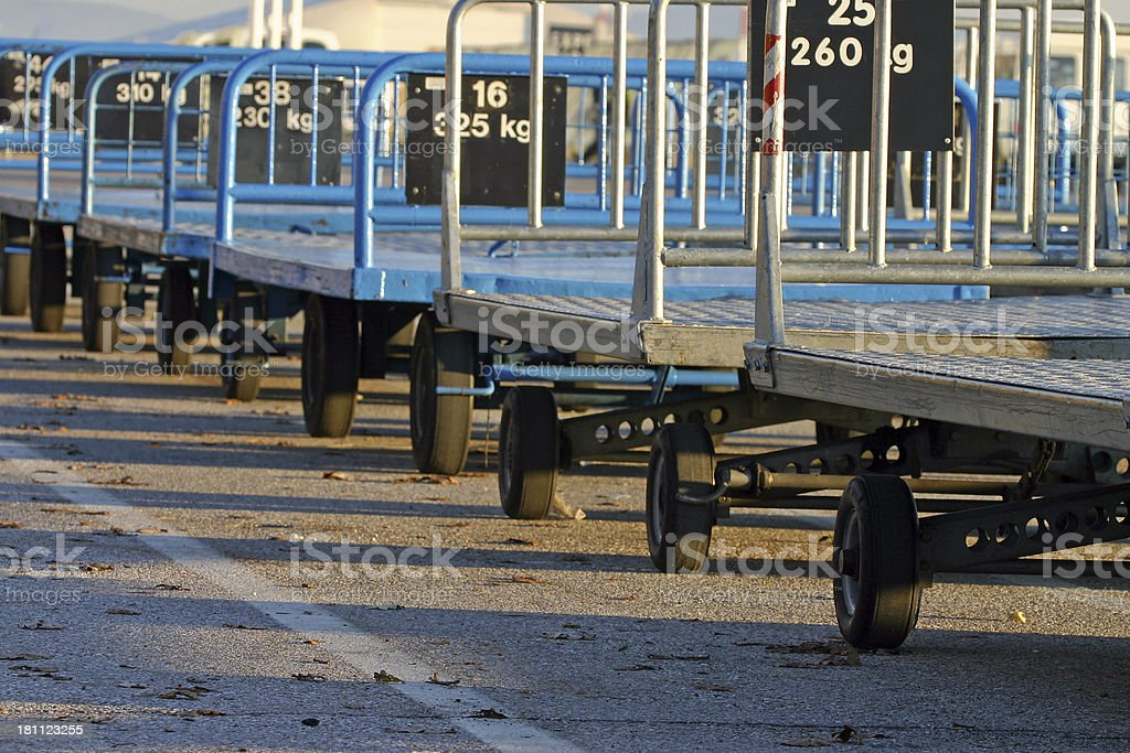Airport baggage trolleys royalty-free stock photo