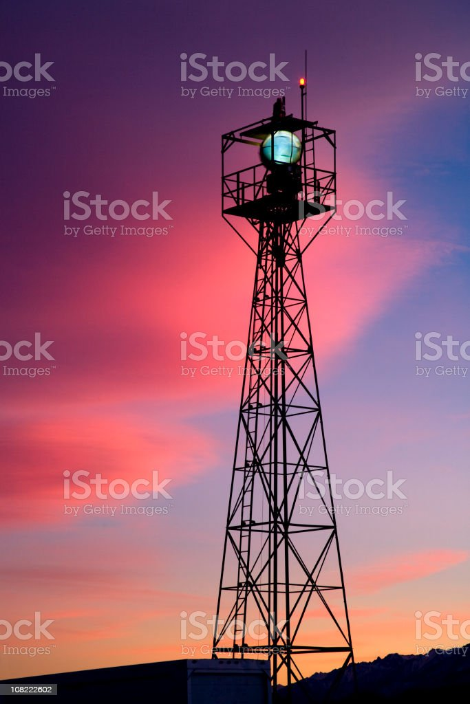 Airport Beacon stock photo