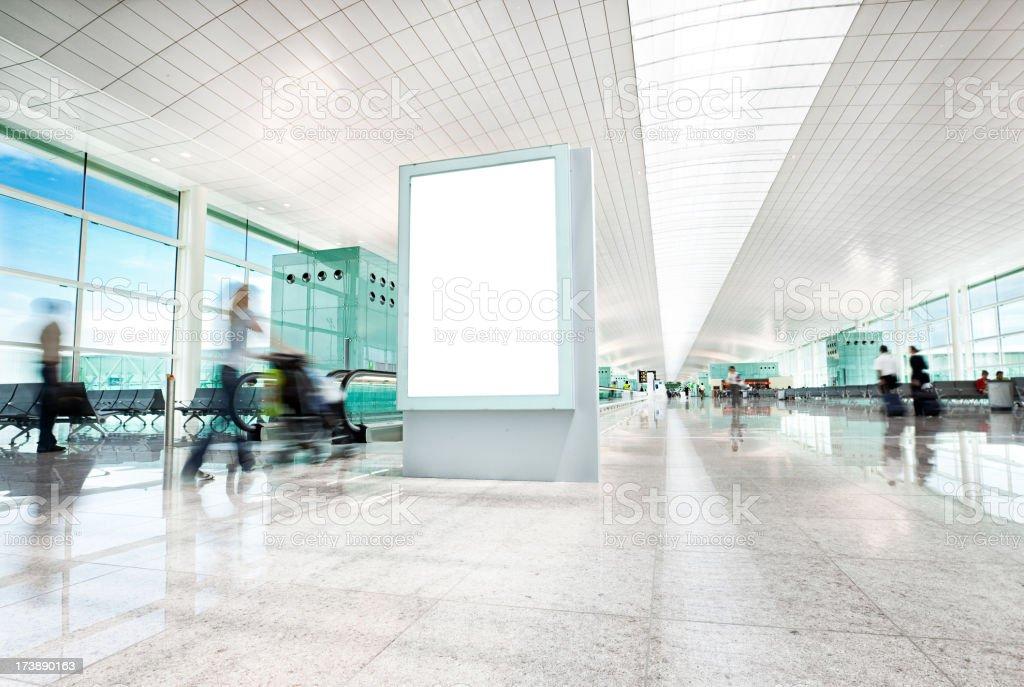 airport billboard stock photo