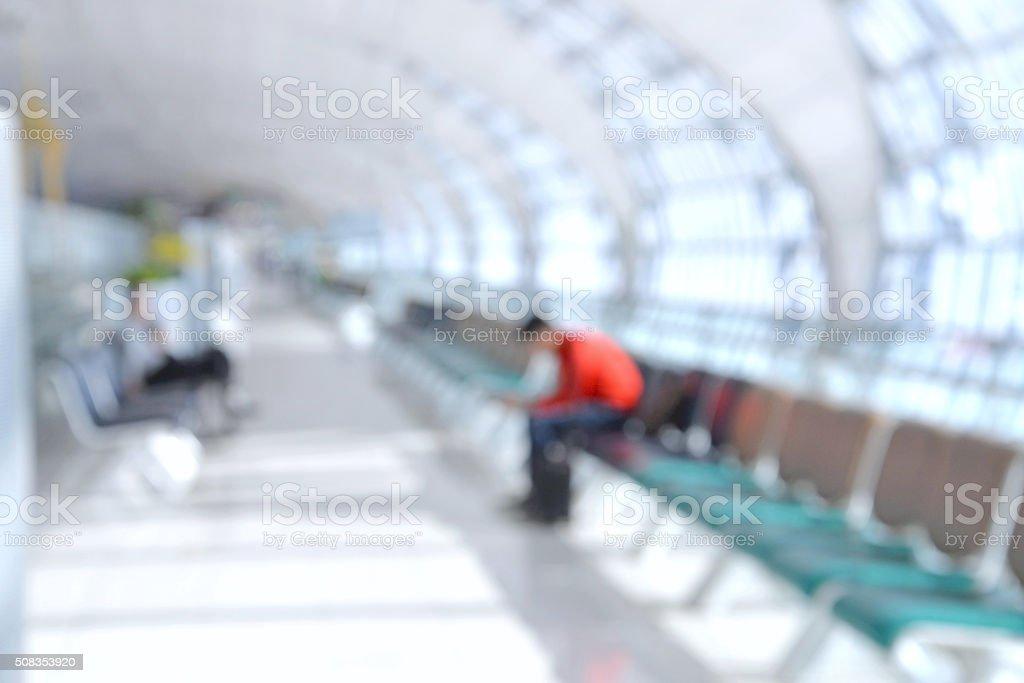 Airport blur background stock photo