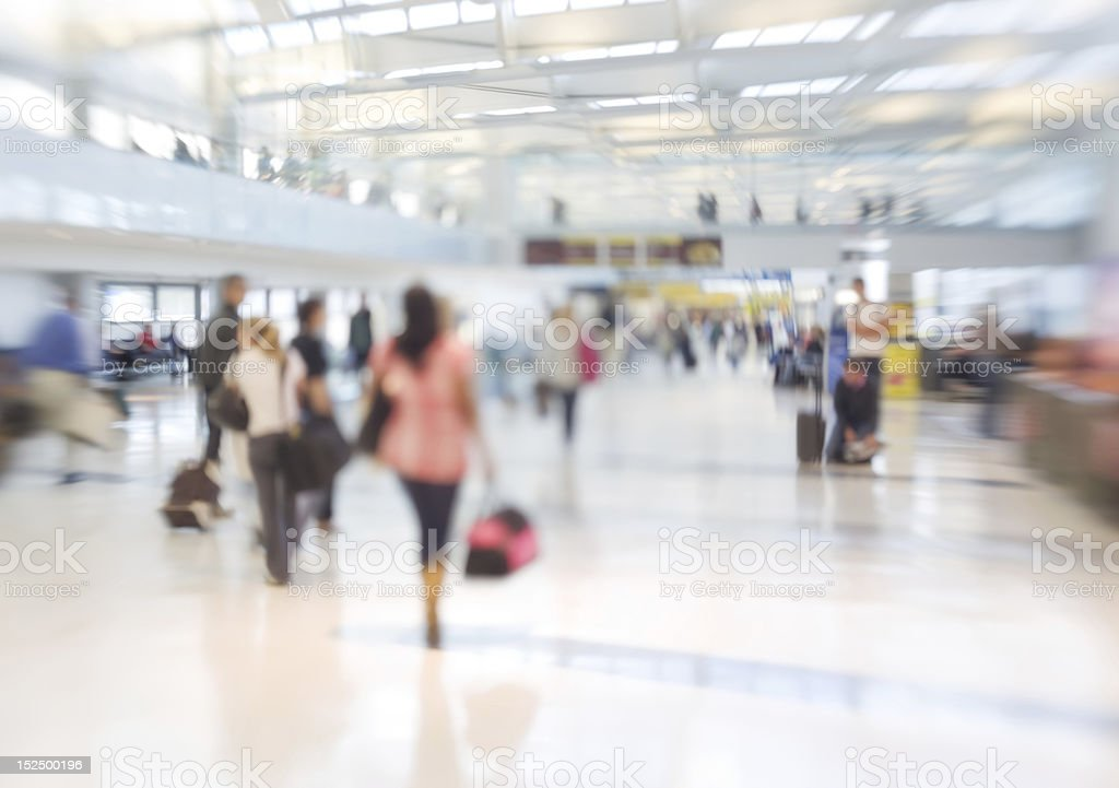 Airport - blurred with lens stock photo