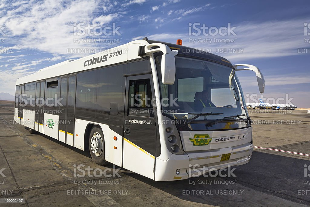 Airport bus royalty-free stock photo
