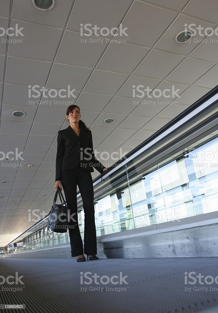 Airport busiensswoman royalty-free stock photo