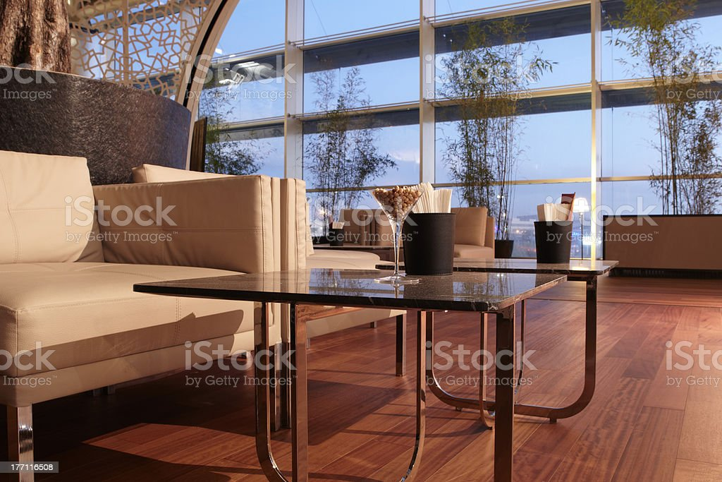 airport business class lounge stock photo